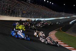 Will Power, Team Penske Chevrolet, Josef Newgarden, Team Penske Chevrolet en tête au départ