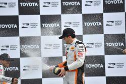 Podium: race winner Alvaro Parente, K-Pax Racing