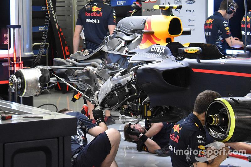 Detalle trasero del Red Bull Racing RB13