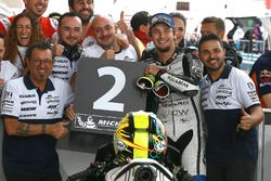 Second place Karel Abraham, Aspar Racing Team