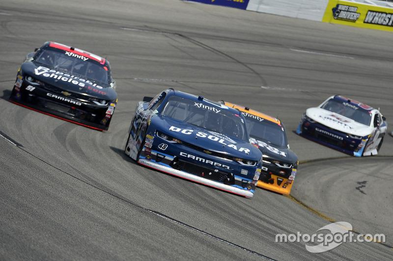 Brennan Poole, Chip Ganassi Racing, Chevrolet; Elliott Sadler, JR Motorsports, Chevrolet; Jeremy Cle