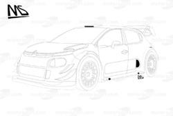 Détail de la Citroën C3 WRC 2017