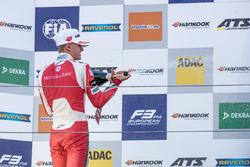 Podium, Rookie,Mick Schumacher, Prema Powerteam, Dallara F317 - Mercedes-Benz