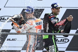 Second place Johann Zarco, Monster Yamaha Tech 3, third place Dani Pedrosa, Repsol Honda Team