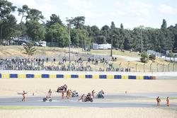 Авария в гонке Moto3