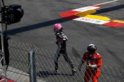 Esteban Ocon, Force India F1 crashed