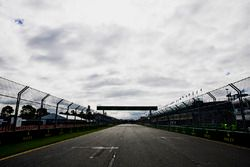 A view from the rear of the grid towards the first corner