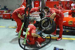 Simulation d'arrêt au stand de Ferrari