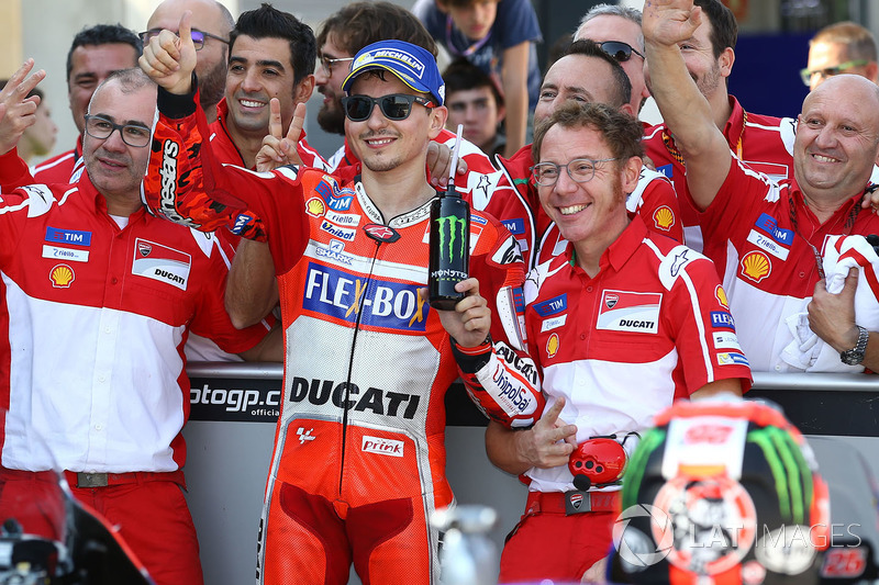 Second place Jorge Lorenzo, Ducati Team