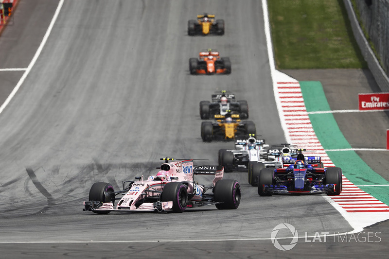 Естебан Окон, Sahara Force India F1 VJM10, Карлос Сайнс-мол., Scuderia Scuderia Toro Rosso STR12, Феліпе Масса, Williams FW40