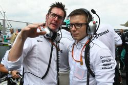 (L to R): Andy Shovlin, Mercedes AMG F1 Chief Engineer and Peter Bonnington, Mercedes AMG F1 Race En