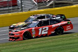 Ryan Blaney, Team Penske Ford and Ty Dillon, Richard Childress Racing Chevrolet