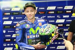 Valentino Rossi, Yamaha Factory Racing with new helmet