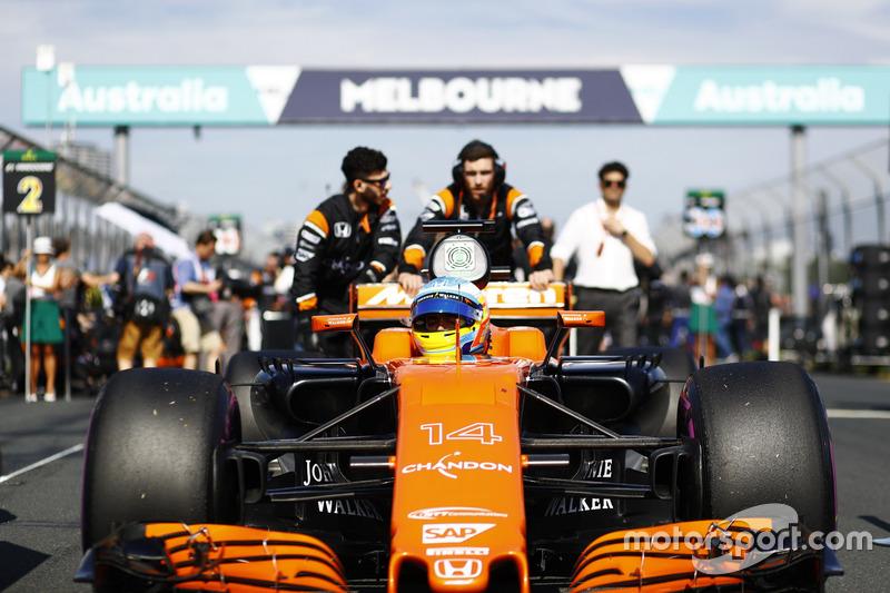 Startaufstellung: Fernando Alonso, McLaren MCL32
