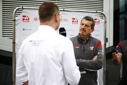 Guenther Steiner, Team Principal, Haas F1 Team, is interviewed