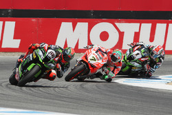 Tom Sykes, Kawasaki Racing, Chaz Davies, Ducati Team, Jonathan Rea, Kawasaki Racing