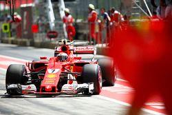 Kimi Raikkonen, Ferrari, stopt bij het team