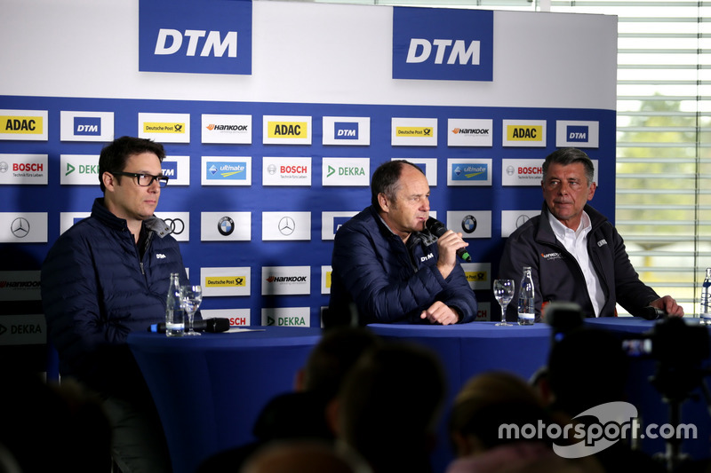 Florian Zitzlsperger, ITR, Gerhard Berger, ITR Chairman, Manfred Sandbichler, Hankook tires