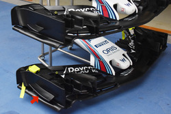 Williams FW 40, front wing comprasion