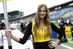 Grid girl of Lucas Auer, Mercedes-AMG Team HWA, Mercedes-AMG C63 DTM
