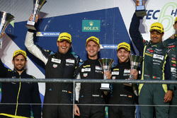 Podium LMGTE Am: second place Christian Ried, Matteo Cairoli, Marvin Dienst, Dempsey Proton Competit