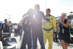 Le vainqueur Graham Rahal, Rahal Letterman Lanigan Racing Honda