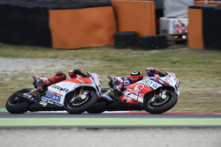 Данило Петруччи, Octo Pramac Racing, и Хорхе Лоренсо, Ducati Team