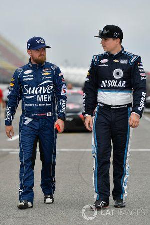 Justin Allgaier, JR Motorsports Chevrolet, Brennan Poole, Chip Ganassi Racing Chevrolet