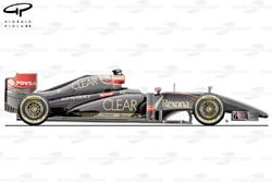 Lotus E22 side view (launch car)