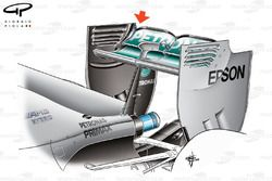 Mercedes W06 rear wing detail