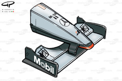 McLaren MP4-14 1999 Australia front wing and nose