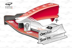 Toyota TF104B 2004 front wing and nose