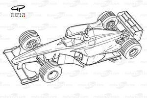 Williams FW21 3/4 view