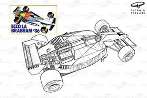 Brabham BT55 3/4 view