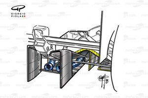 Williams FW23 2001 central exhausts