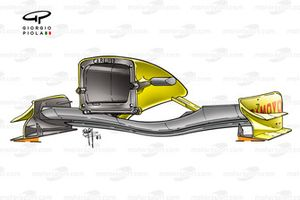 Jordan EJ13 2003 front wing and nose rear view