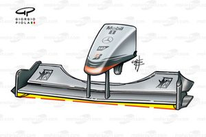 Aileron avant de la McLaren MP4-16