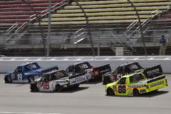 Austin Cindric, Brad Keselowski Racing Ford and Ryan Truex, Hattori Racing Enterprises Toyota