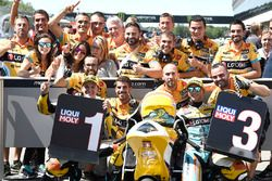 Polesitter Gabriel Rodrigo, RBA Racing Team, third place Juan Francisco Guevara, RBA Racing Team