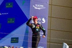 Podium: race winner Harrison Newey
