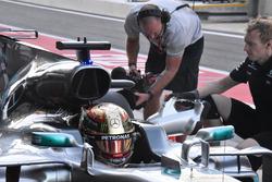 Lewis Hamilton, Mercedes AMG F1 W08 airbox