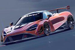 Schets van de McLaren 720S GT3