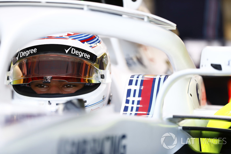 Lance Stroll, Williams Racing, in cockpit