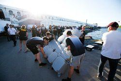 Il team Pirelli nella gara di Raft