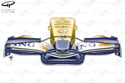 Renault R28 2008 Istanbul front wing