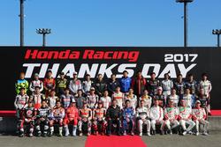 Honda Racing THANKS DAY 2017, церемония