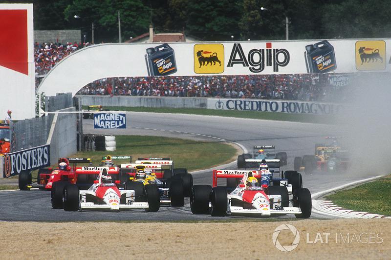 Ayrton Senna, McLaren MP4/5B Honda ve Gerhard Berger, McLaren MP4/5B Honda