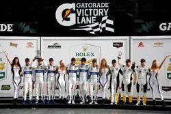 Podium GTLM: Winners #67 Ford Performance Chip Ganassi Racing Ford GT: Ryan Briscoe, Richard Westbro
