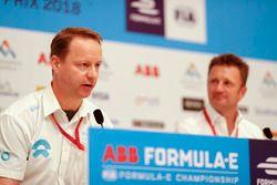 Gary Hughes, Team Principal NIO Formula E Team, Allan McNish, Team Principal, Audi Sport Abt Schaeff