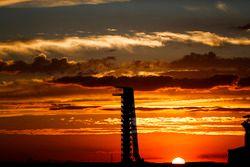 La torre di osservazione al tramonto